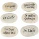 Marble stone commemoration 5 motifs, length 8cm, c